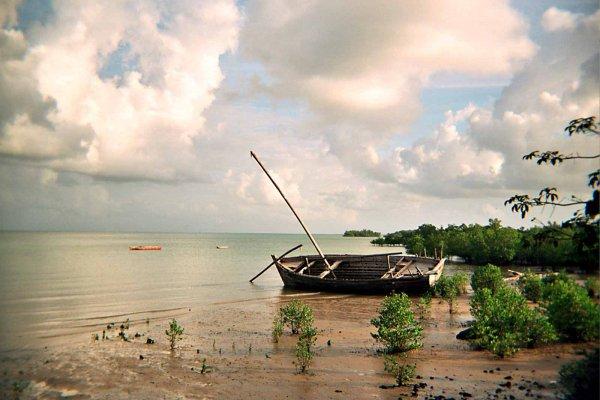 Photo argentique épave à Zanzibar