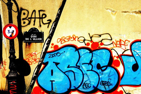 Photo argentique Graffiti