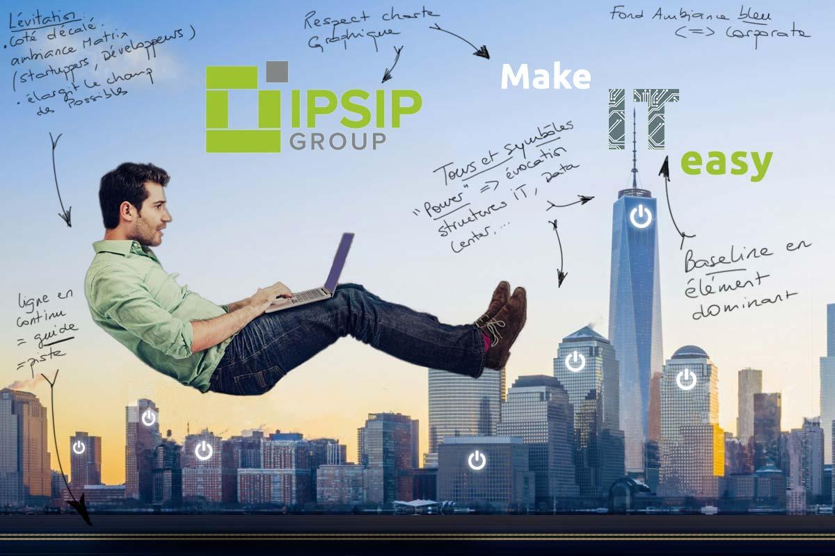 Concept visuel publicitaire Make it easy